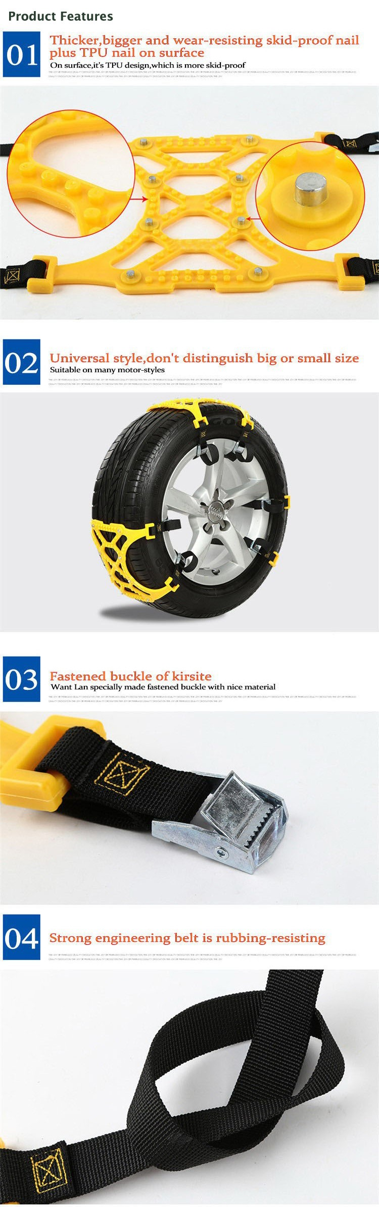 Car Tire Skid Chain Features