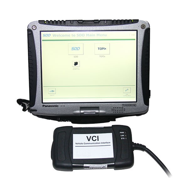 Original JLR VCI3 Interface With CF19 ToughBook