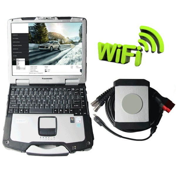 Wireless Piwis II Tester With Panasonic CF30 Laptop